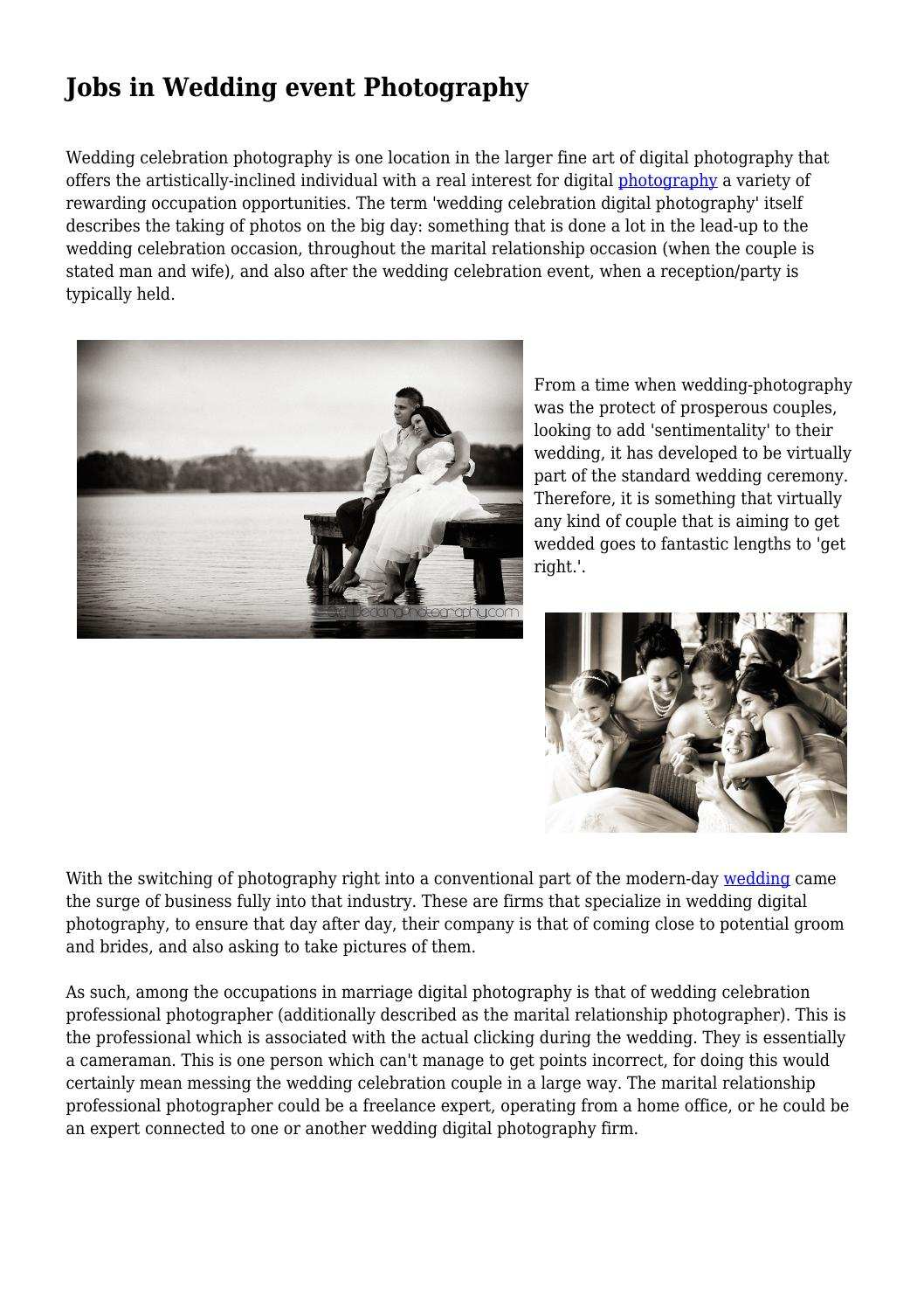 Jobs in Wedding event Photography by carissa7osborne7 - issuu