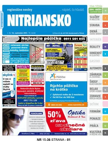 Nitriansko 15 36 by nitriansko nitriansko - issuu 4bf0e5478fb