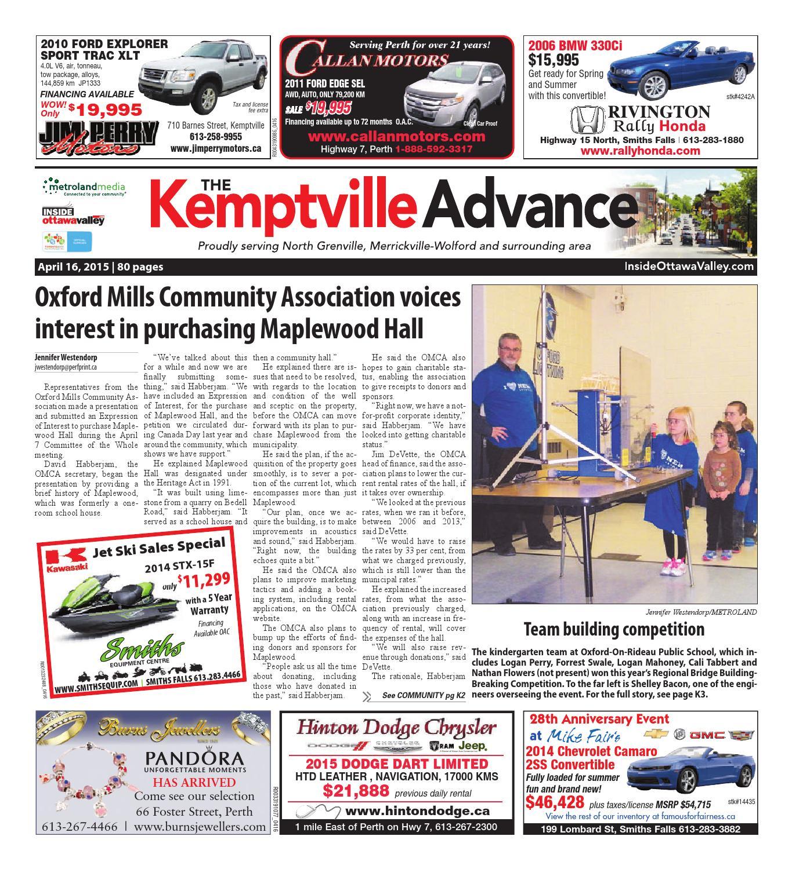 Kemptville041615 by Metroland East - Kemptville Advance - issuu 0ddc451d8cab8