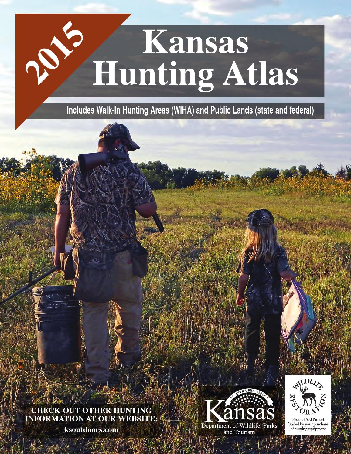 2015 fall hunting atlas by kansas department of wildlife for Kansas out of state fishing license