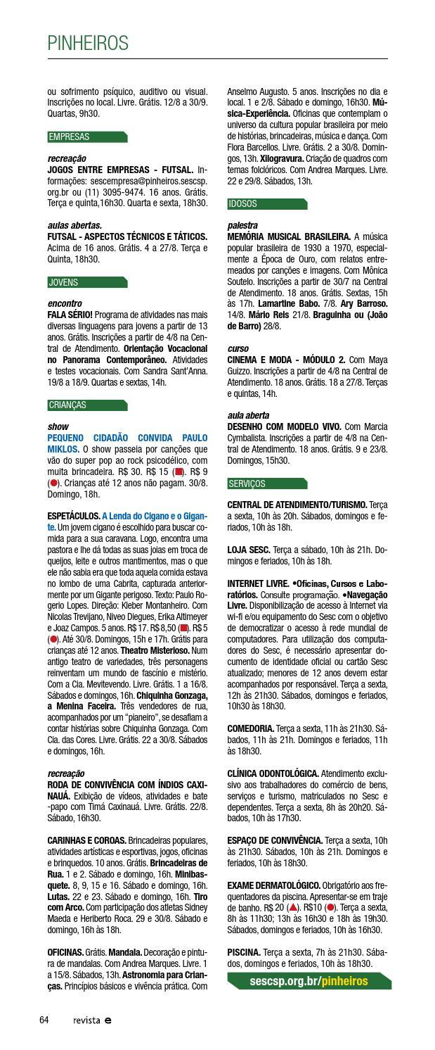 ed78d3199 Revista Em Cartaz Agosto 2015 by Sesc em São Paulo - issuu