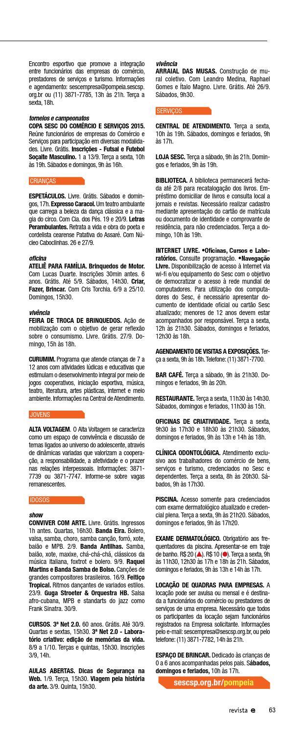 eecb115c3 Revista Em Cartaz Setembro 2015 by Sesc em São Paulo - issuu
