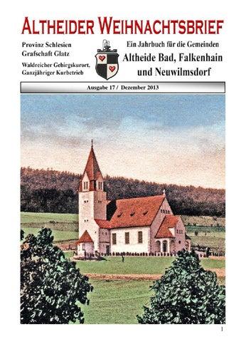 Altheider weihnachtsbrief 2013 by Altheider Weihnachtsbrief issuu
