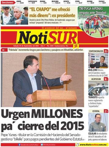 bfb4ad728d3b NotiSUR 05 de septiembre 2015 by Diario NotiSUR Coatzacoalcos 2015 ...