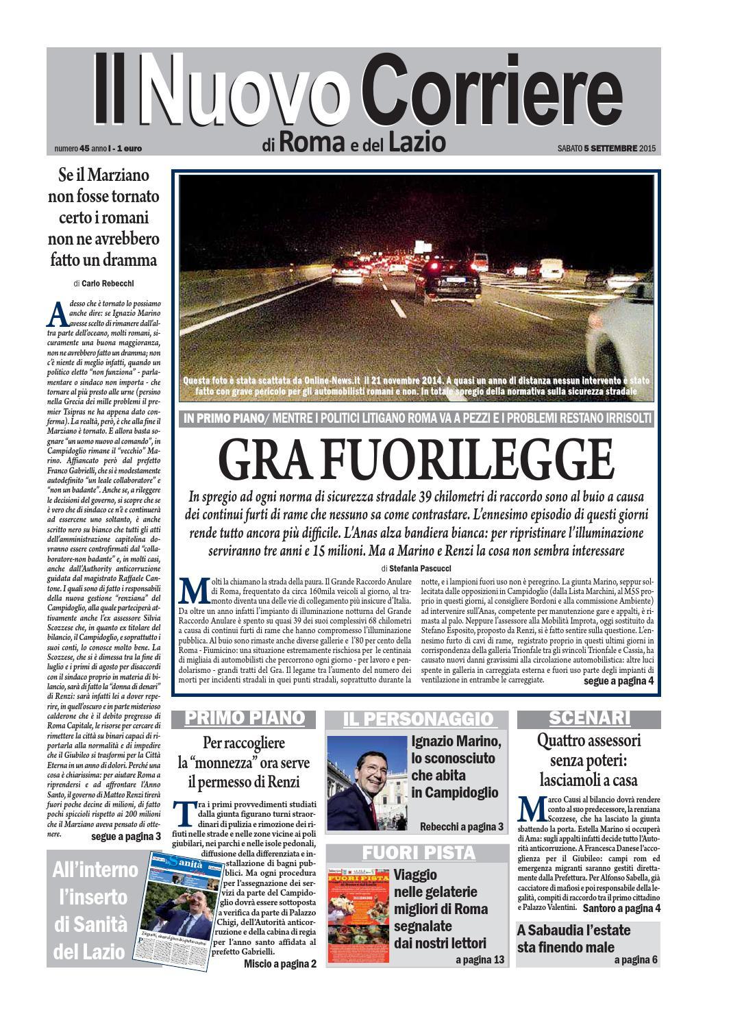 Negozio Lampadari Piazza Zama Roma.Il Nuovo Corriere Di Roma E Del Lazio Sabato 5 Settembre