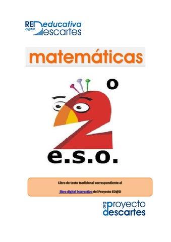 Libro de texto Matematicas 2º ESO by Red Educativa Digital Descartes ...