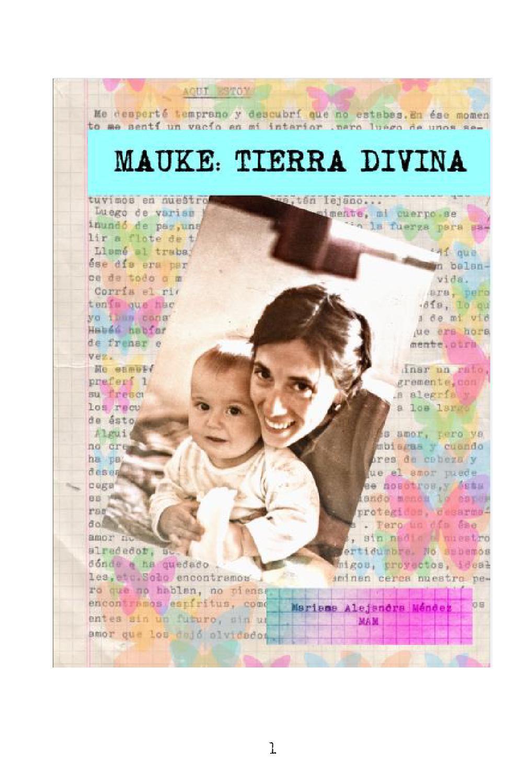 Mauke Tierra Divina Justicia Por Amor Propio By Valen Edit Ra  # Muebles Juampy Tigre