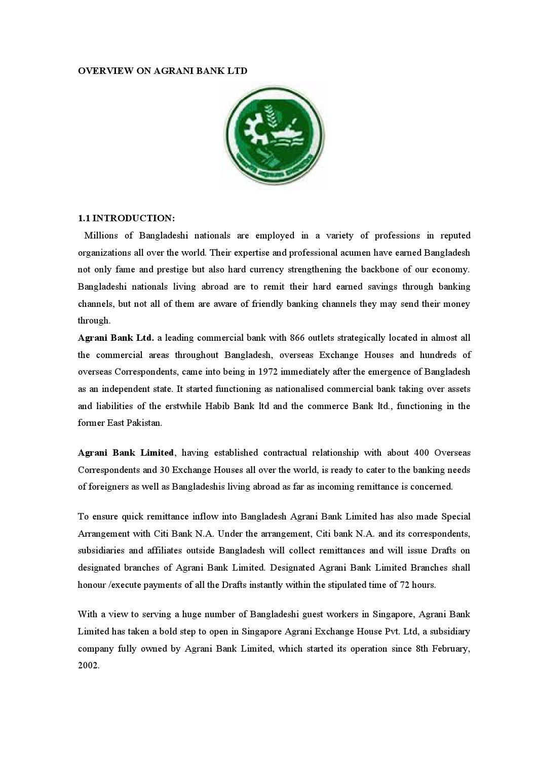term papers on agrani bank bangladesh ltd