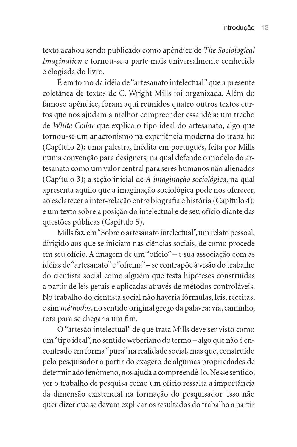 SOBRE O ARTESANATO INTELECTUAL E OUTROS ENSAIOS C. WRIGHT