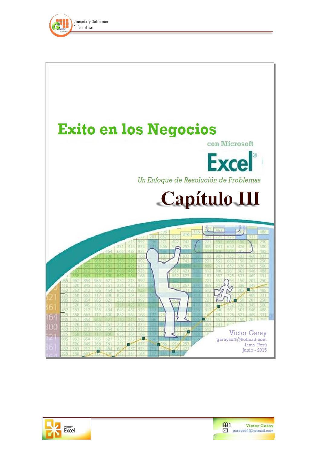 Manual Excel Capítulo 20 by GaraySoft Solutions   Victor Garay   issuu