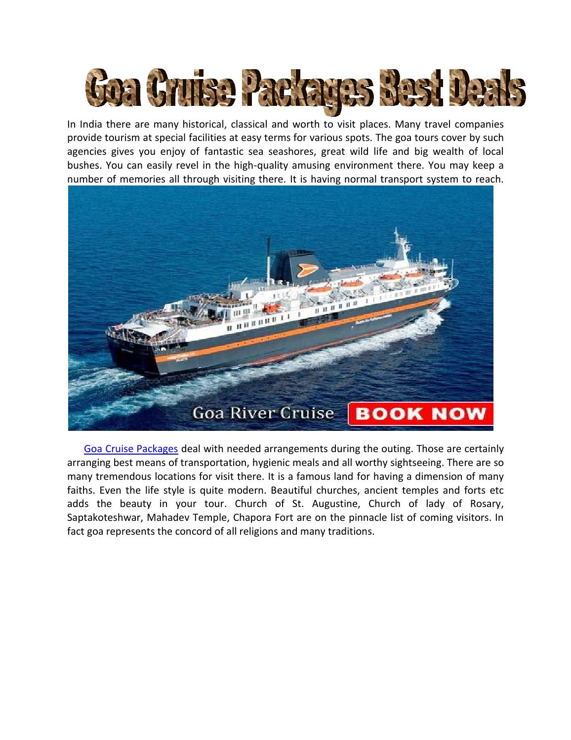 Best Goa Cruise Packages At Cheapest Price By