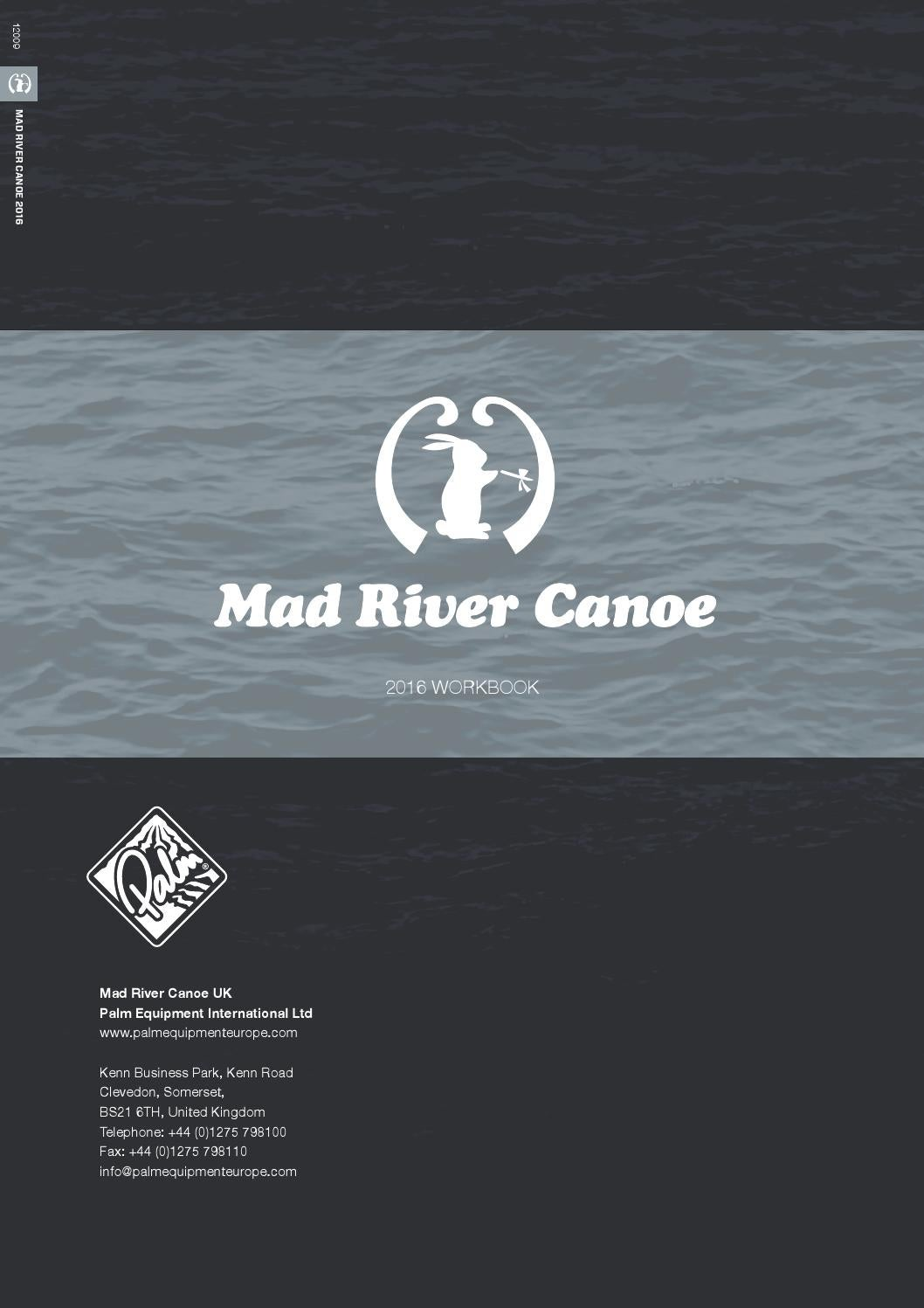 Mad River Canoe 2016 Workbook supplement by Palm Equipment