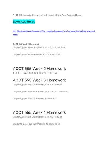 ACCT 601 Week 7 Final Term Paper