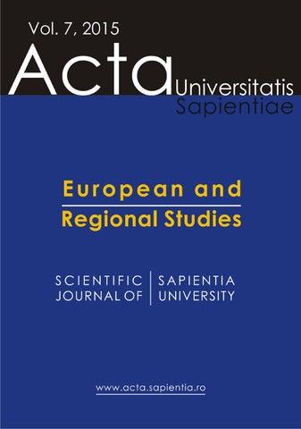 798f6dfb92 Acta Universitatis Sapientiae The scientific journal of Sapientia  University publishes original papers and surveys in several areas of  sciences written in ...