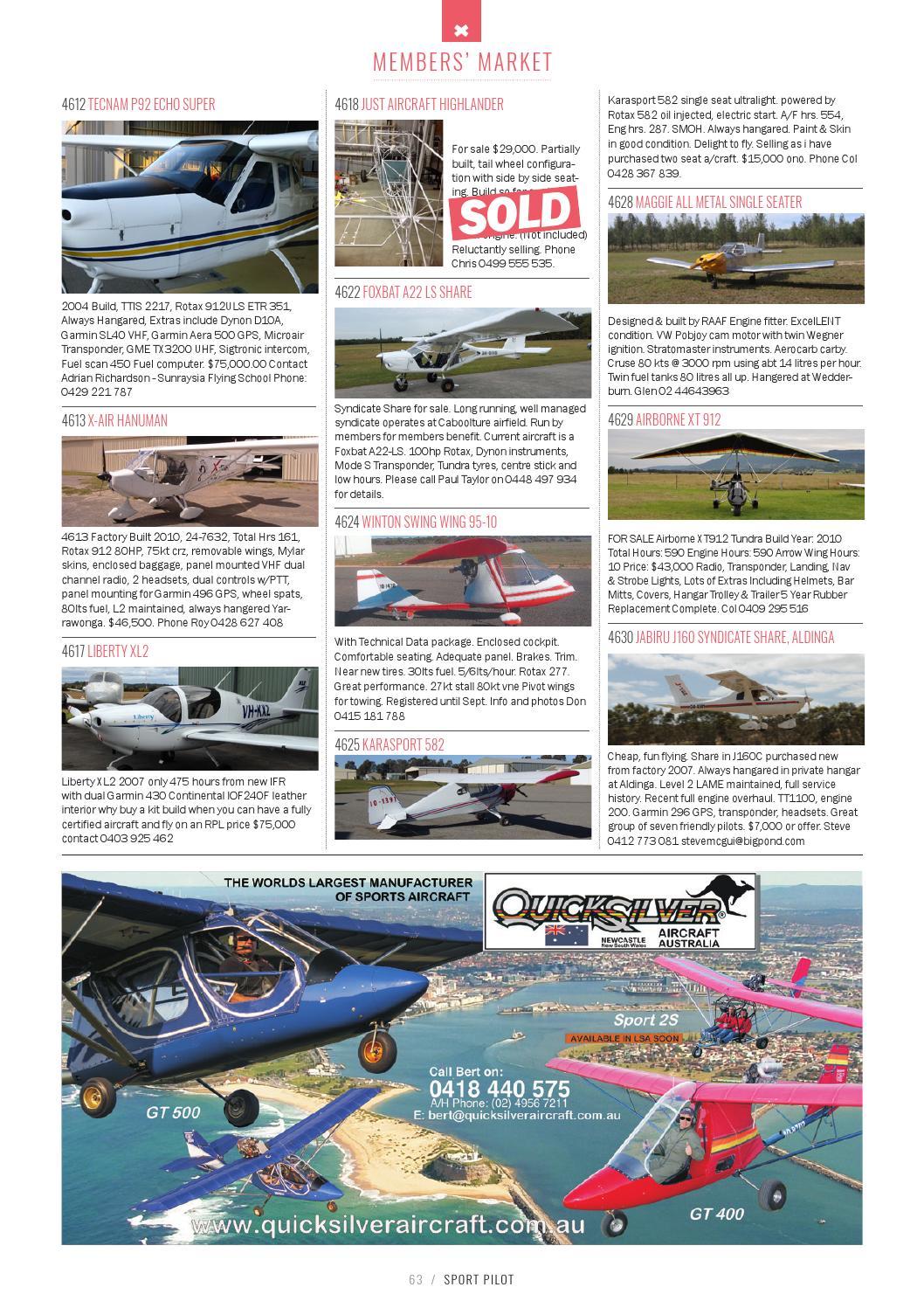 Sport Pilot 49 Sep 2015 by Recreational Aviation Australia