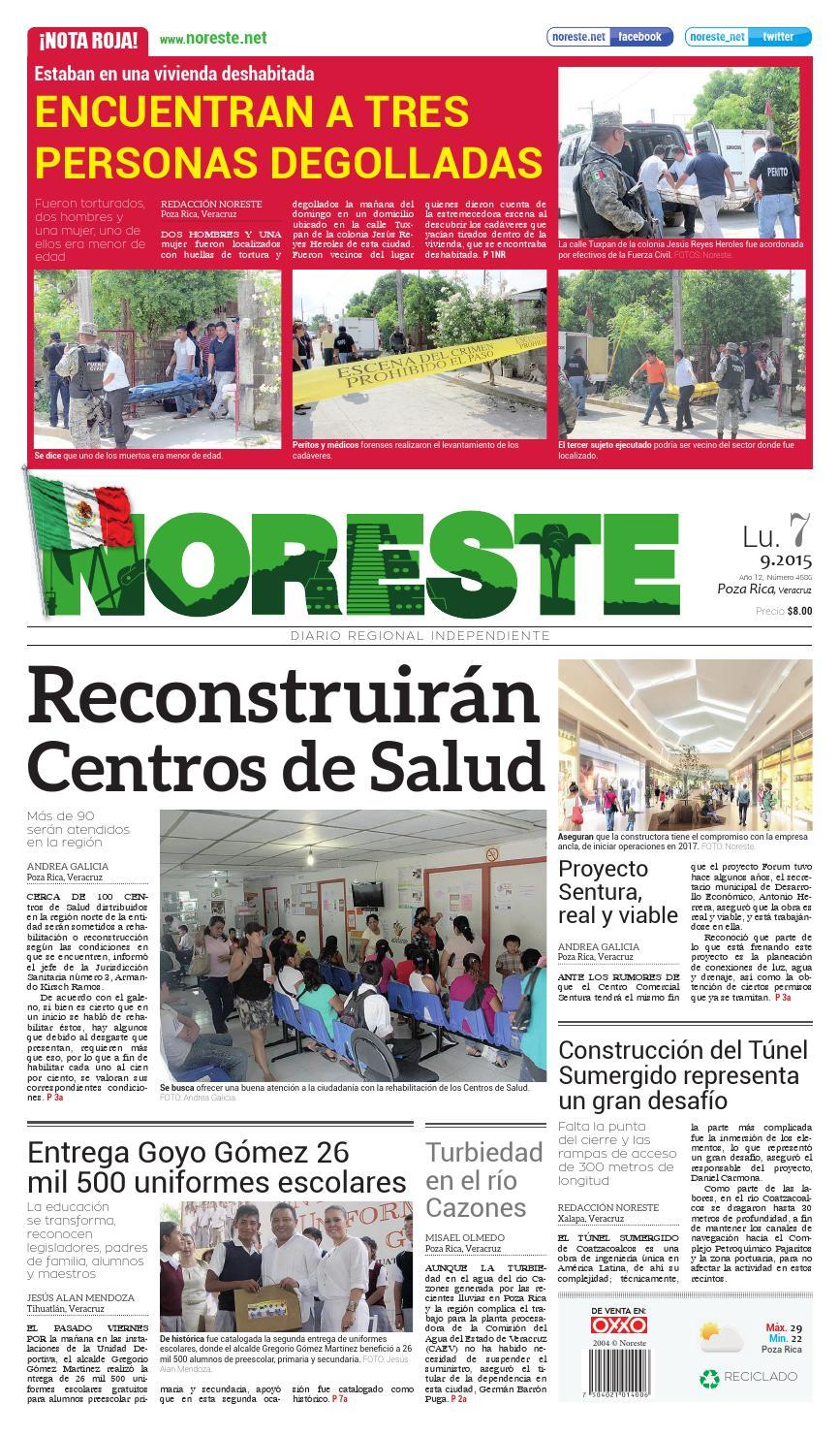 Versi N Impresa 07 De Septiembre De 2015 By Noreste Diario  # Muebles Bebotes