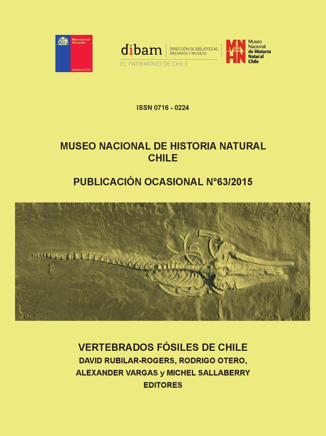 Publicacion Ocasional N° 63, Museo Nacional de Historia Natural by ...