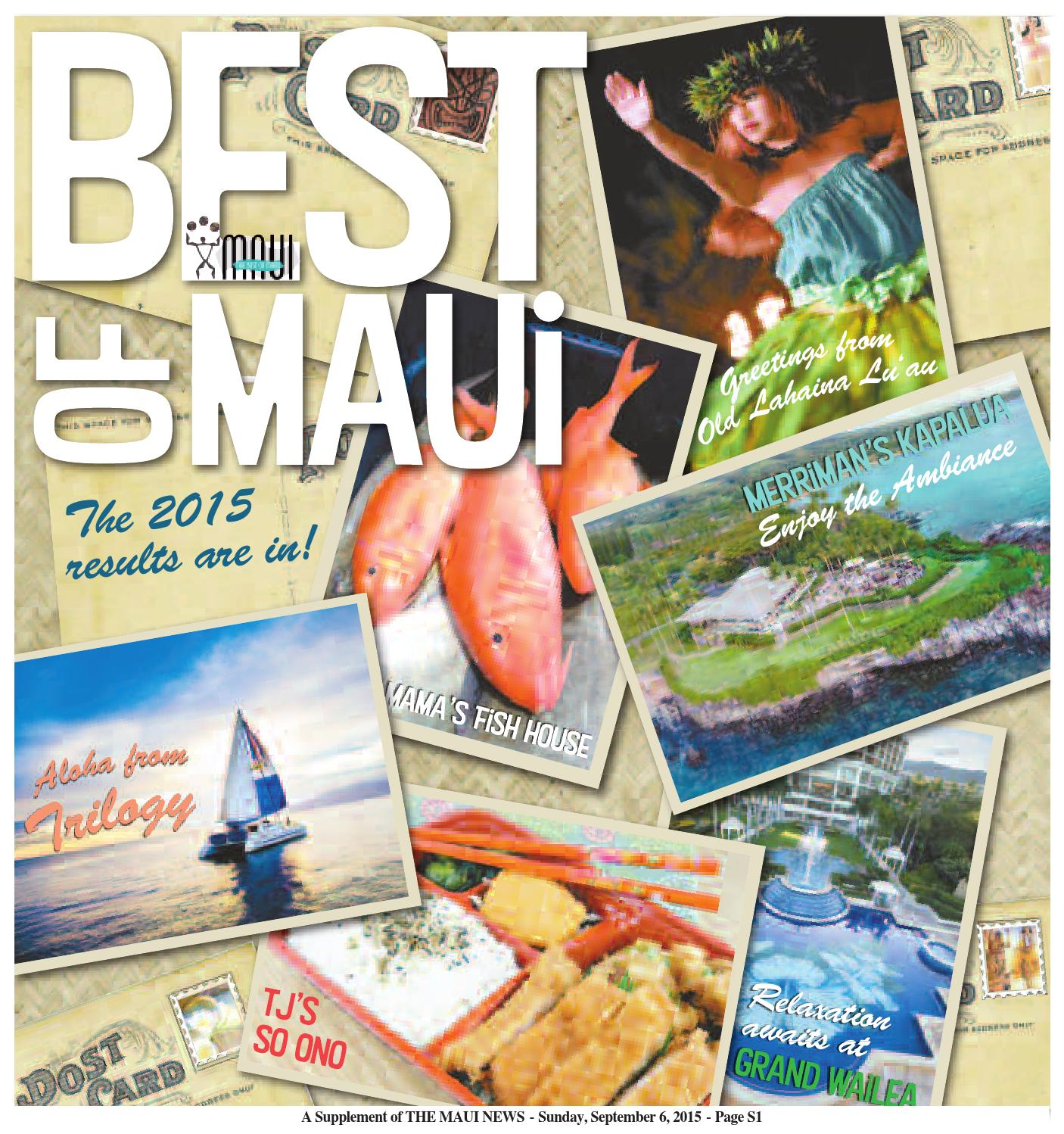 Best Of Maui 2015 By Publishing Company