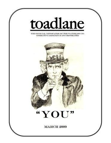 toadlane - March 2009 by WCRI toadlane - issuu