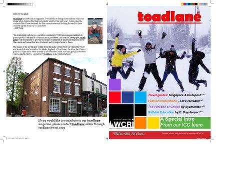 toadlane - February 2013 by WCRI toadlane - issuu