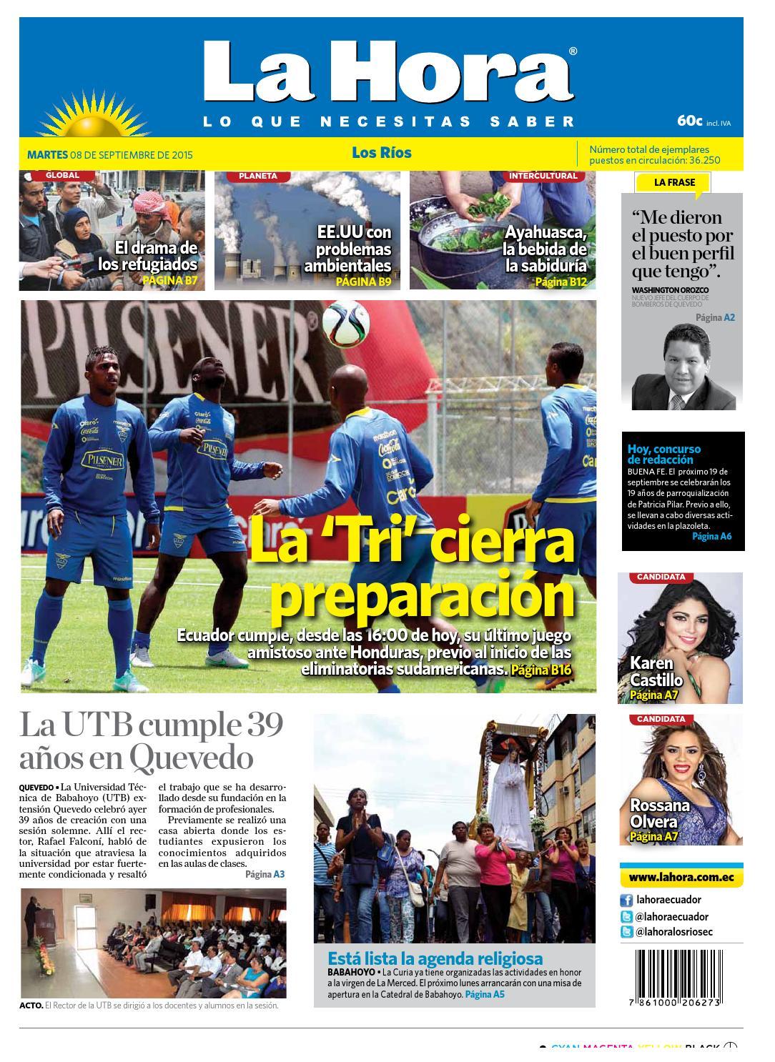 los r237os 8 septiembre 2015 by diario la hora ecuador issuu