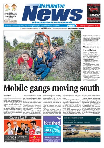 d290e5d5d2f6 8 September 2015 by Mornington Peninsula News Group - issuu