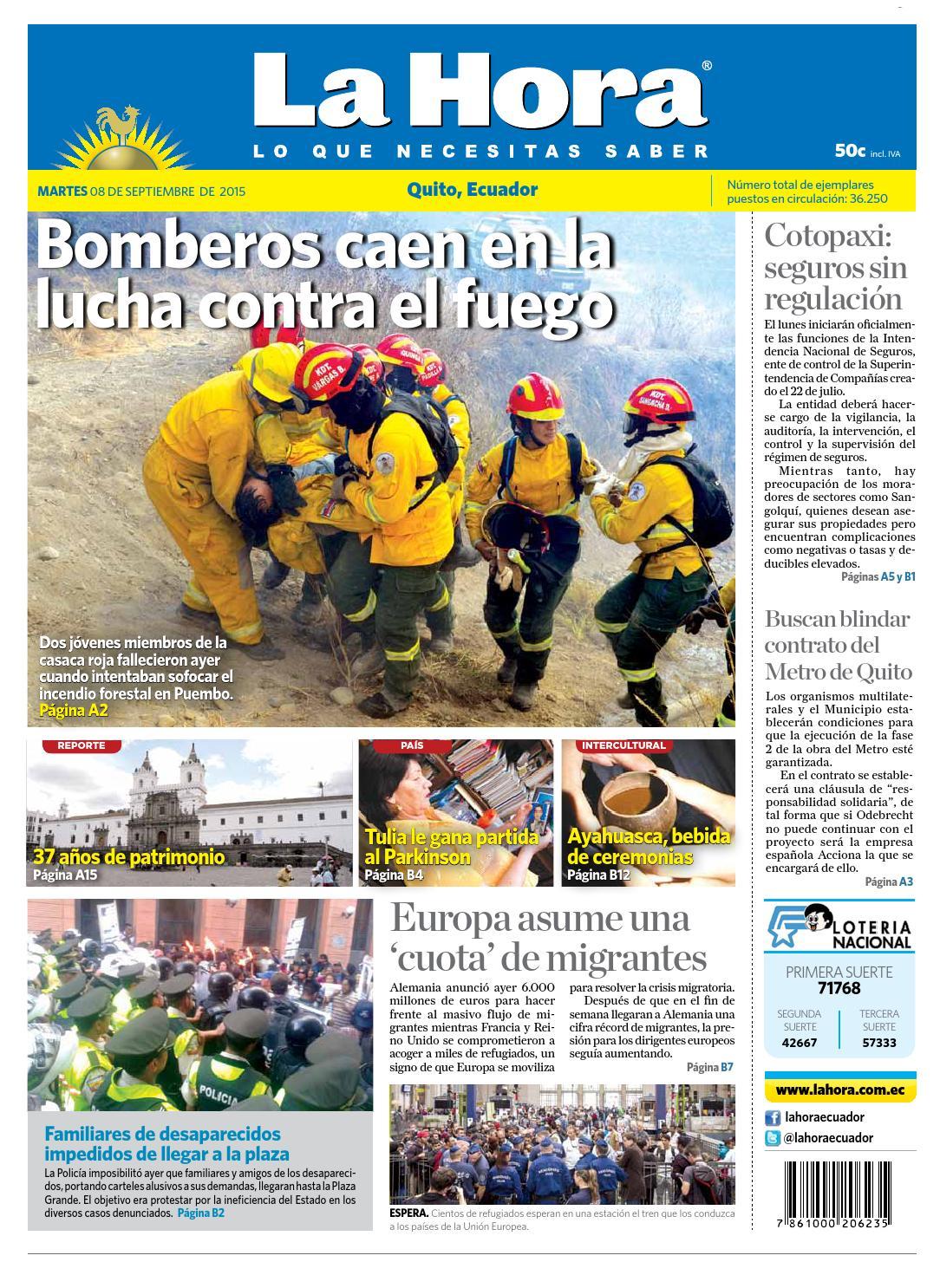 Quito 8 septiembre 2015 by Diario La Hora Ecuador - issuu 46233b9dc30
