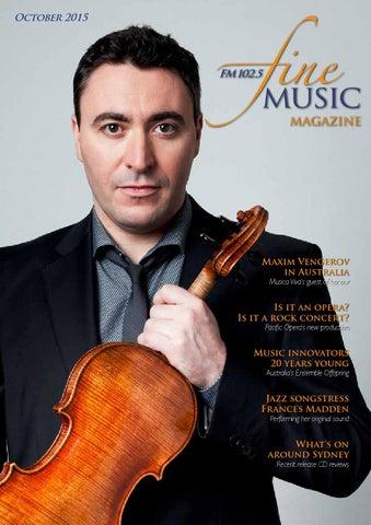 Fine Music Magazine October 2015 By Editor Issuu