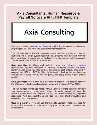 Axia Consultants Human Resource Payroll