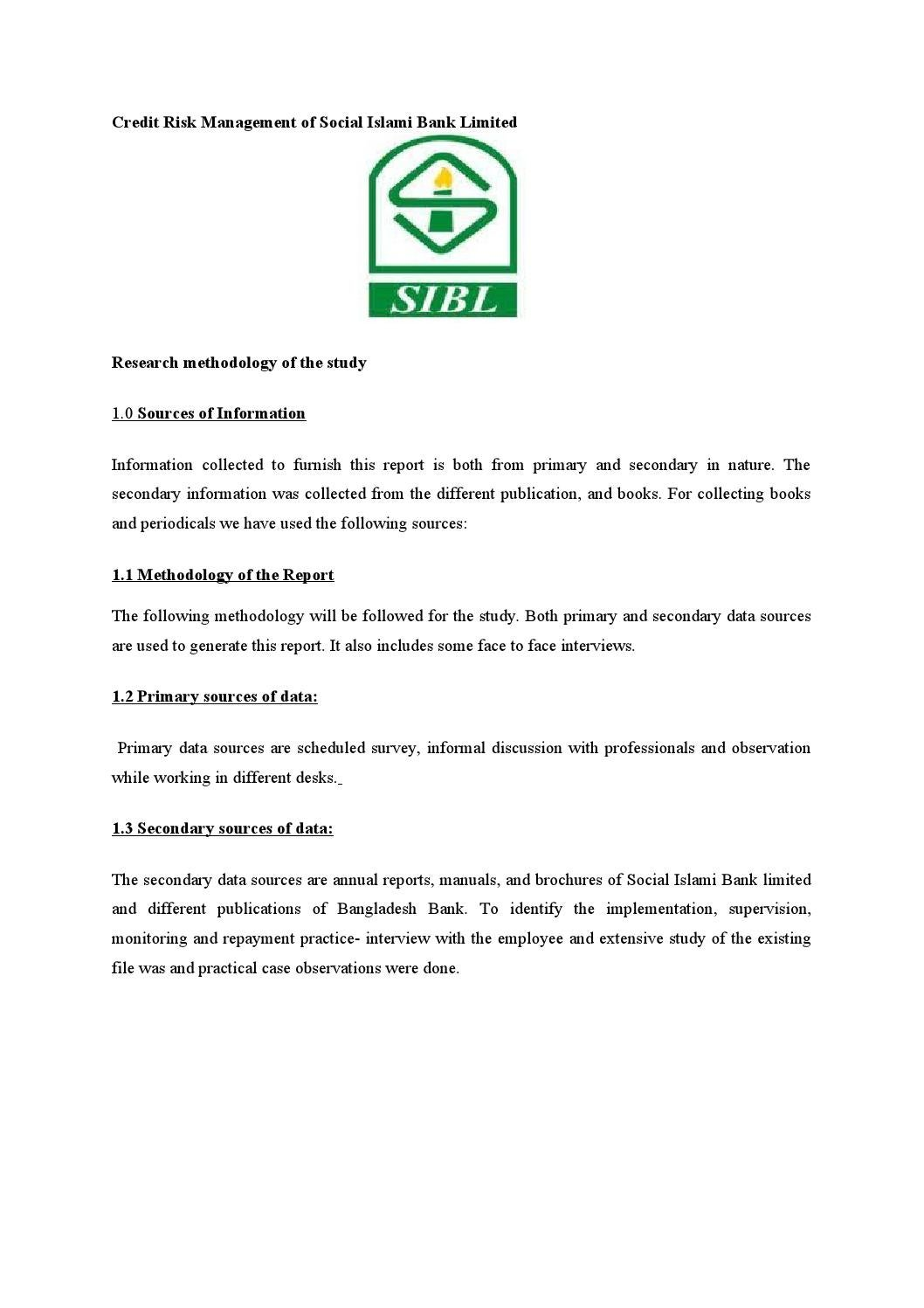 Credit risk management of social islami bank limited by md papon credit risk management of social islami bank limited by md papon issuu 1betcityfo Images