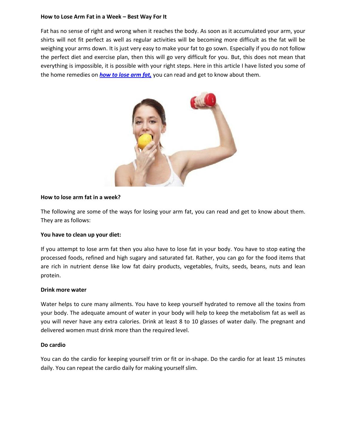 Diet to lose fat on arms