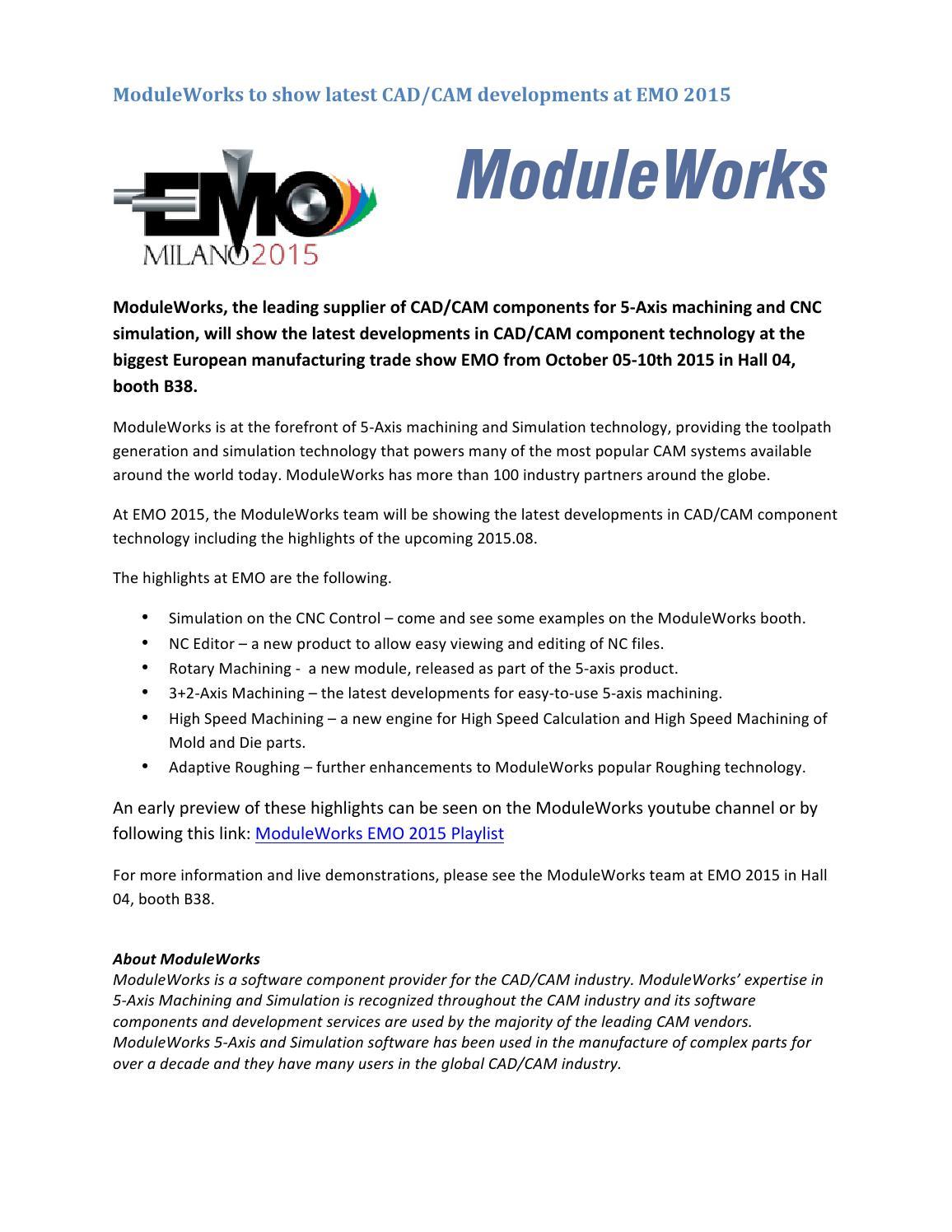 Moduleworks Press Release