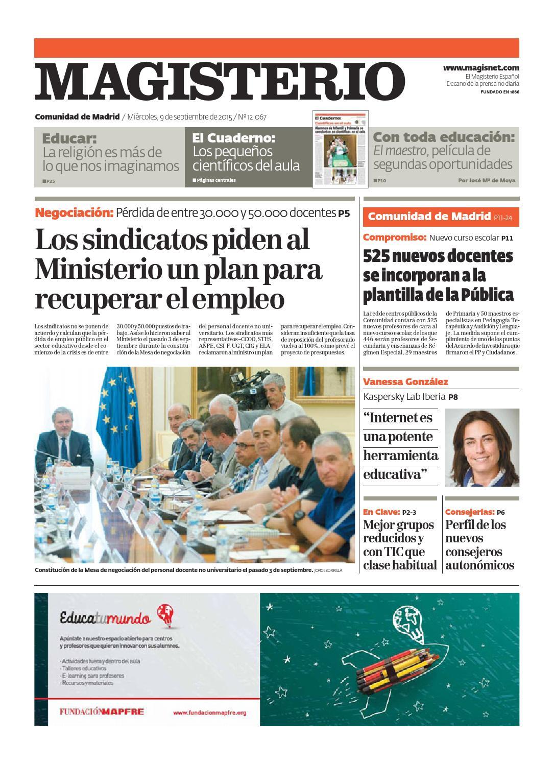 Magisterio Nº 12067 Edición Madrid by Grupo Siena - issuu