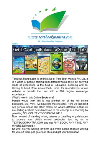 Online textbooks in india at www textbookmantra com by