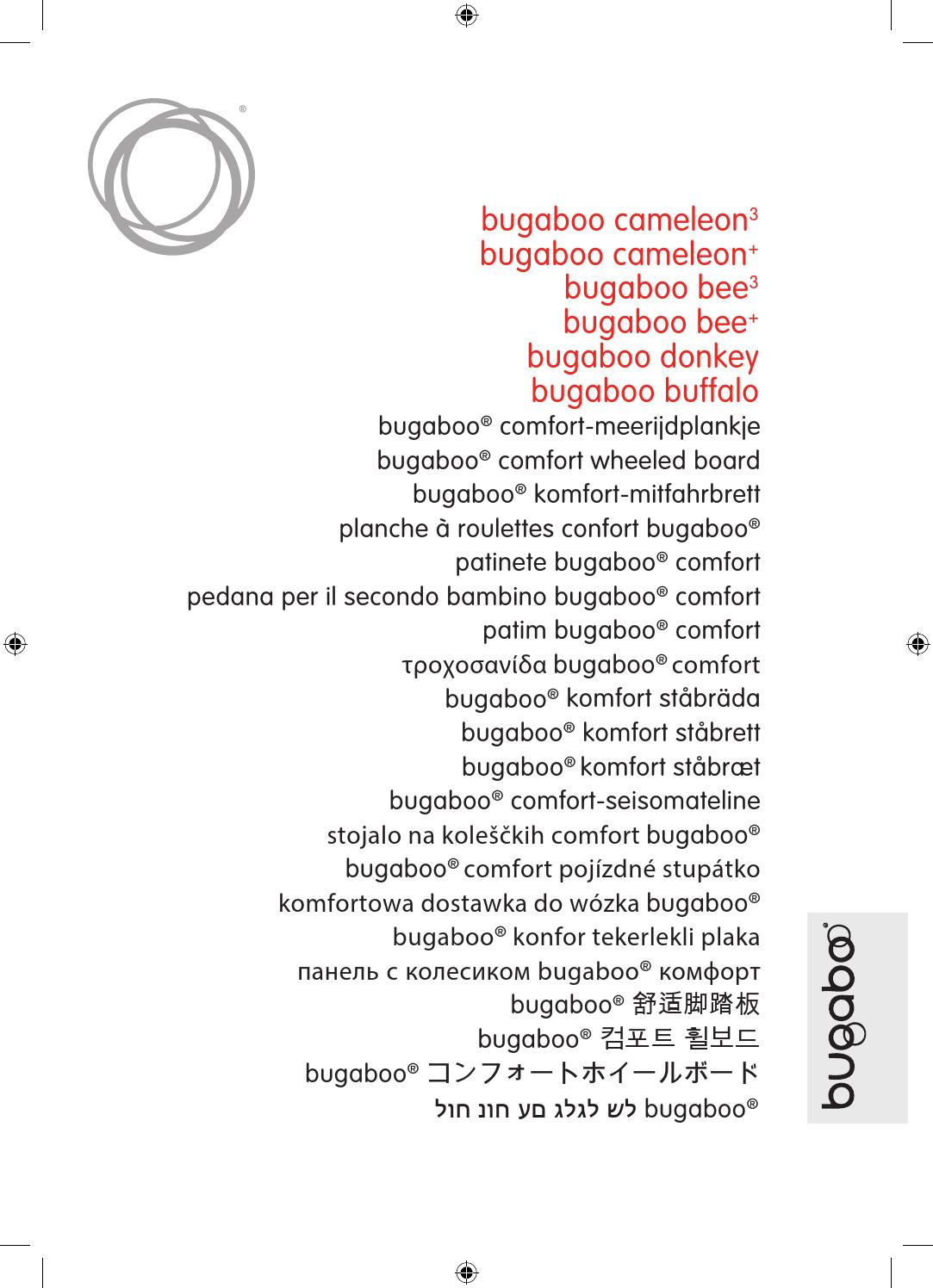 Bugaboo Runner /& Stand Adaptateurs Pour Bugaboo Cameleon 3 nacelle
