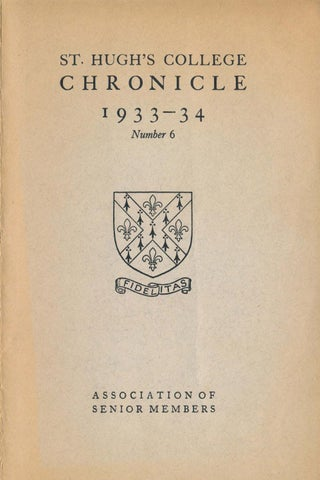 f8001a04 St Hugh's College, Oxford - Chronicle 1933-1934 by St Hugh's College ...