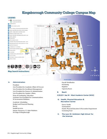 Kingsborough Community College Map Map of Kingsborough Community College by CUNY Kingsborough   issuu Kingsborough Community College Map