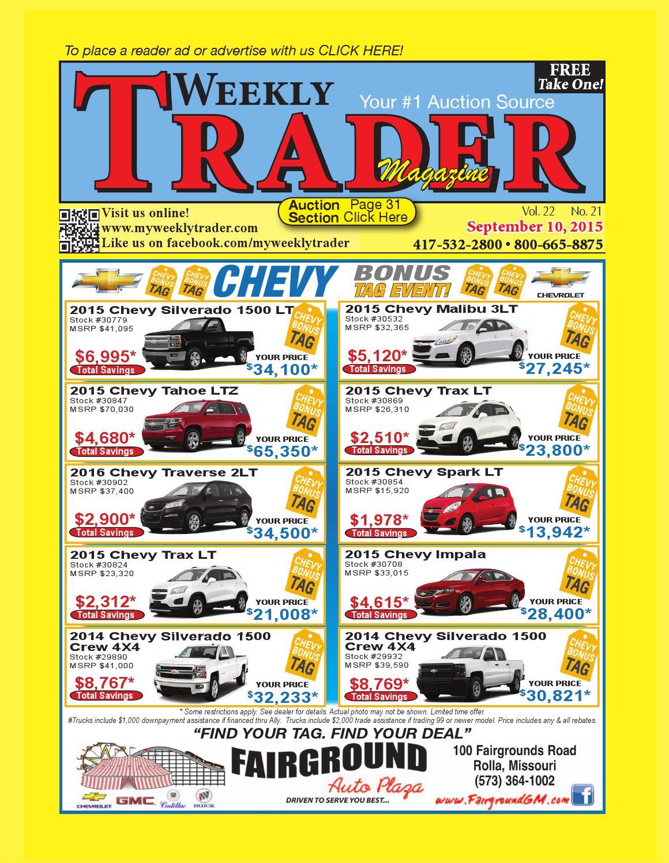 Weekly Trader September 10, 2015 by Weekly Trader - issuu