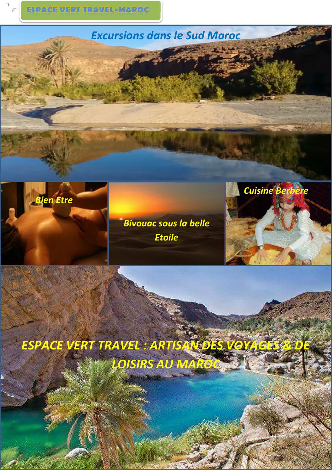 Espace vert travel maroc by abdo mghari issuu - Chambre chez l habitant marrakech ...