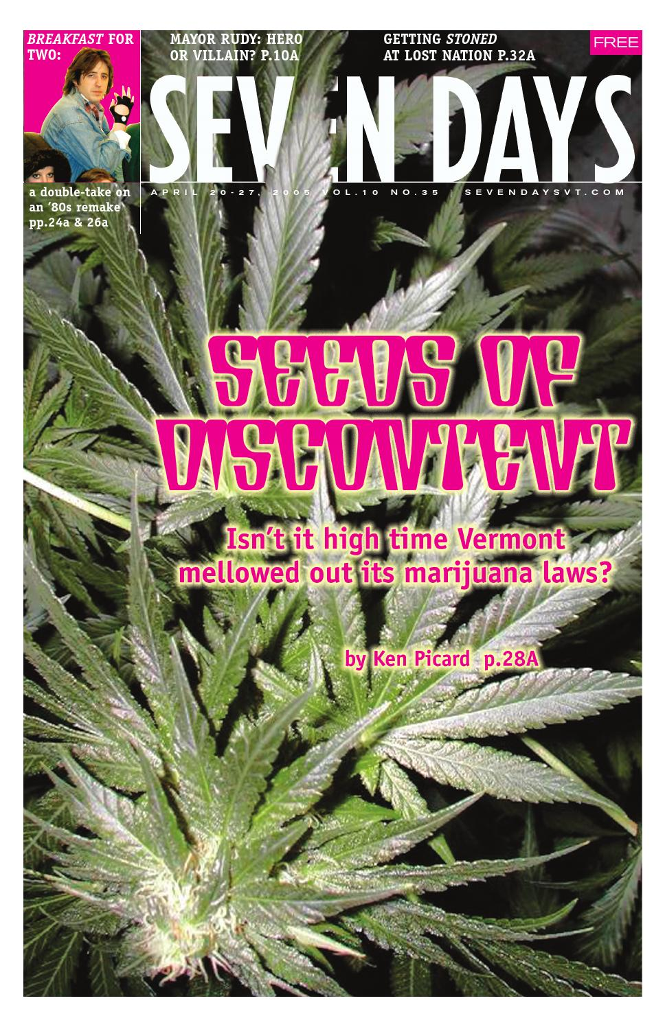 Seven Days, April 20, 2005 by Seven Days - issuu
