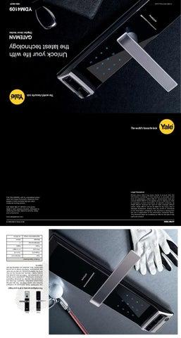 Yale ydm 4109 biometric fingerprint digital door lock for Door 2 door leaflets