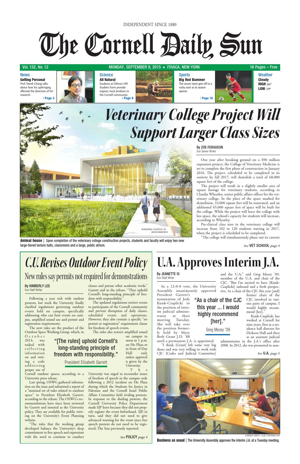 09 15 Entire Issue Hi Res By The Cornell Daily Sun