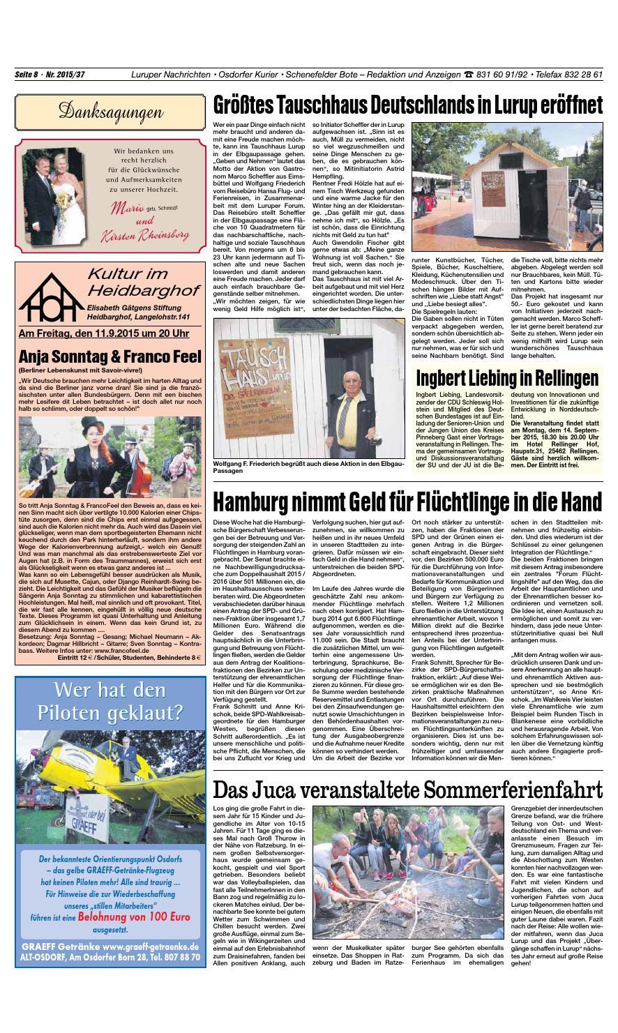 Ausgabe 09 09 2015 by Jürgen Wien - issuu