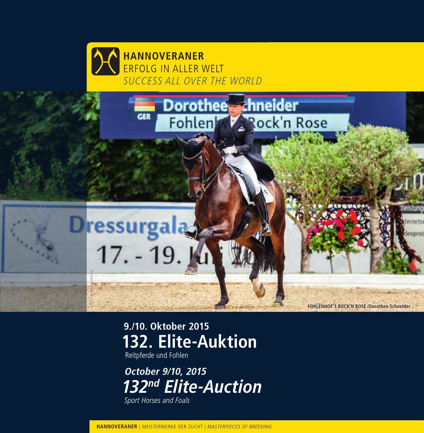 132. Elite-Auktion Reitpferde und Fohlen - 132nd Elite-Auction of ...