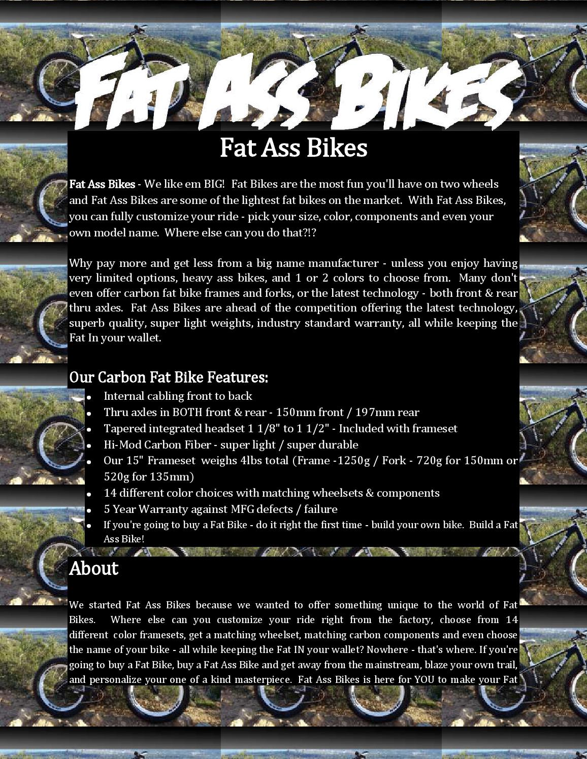 fat ass bikesfatassbikes - issuu