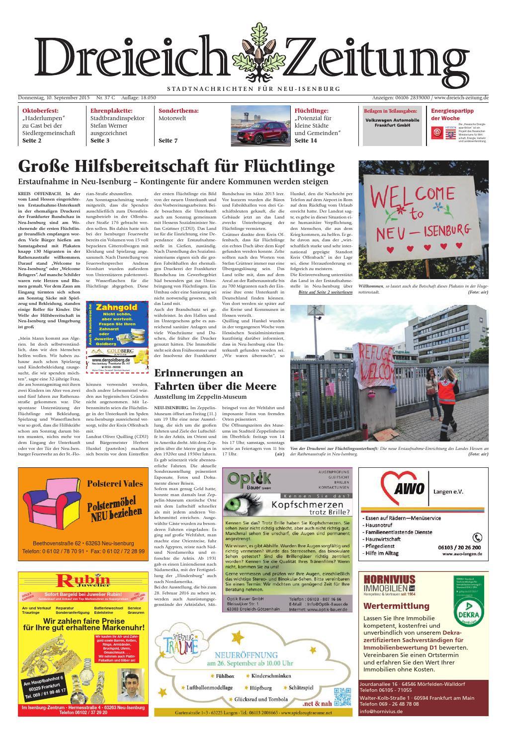 Dz online 037 15 c by Dreieich-Zeitung/Offenbach-Journal - issuu
