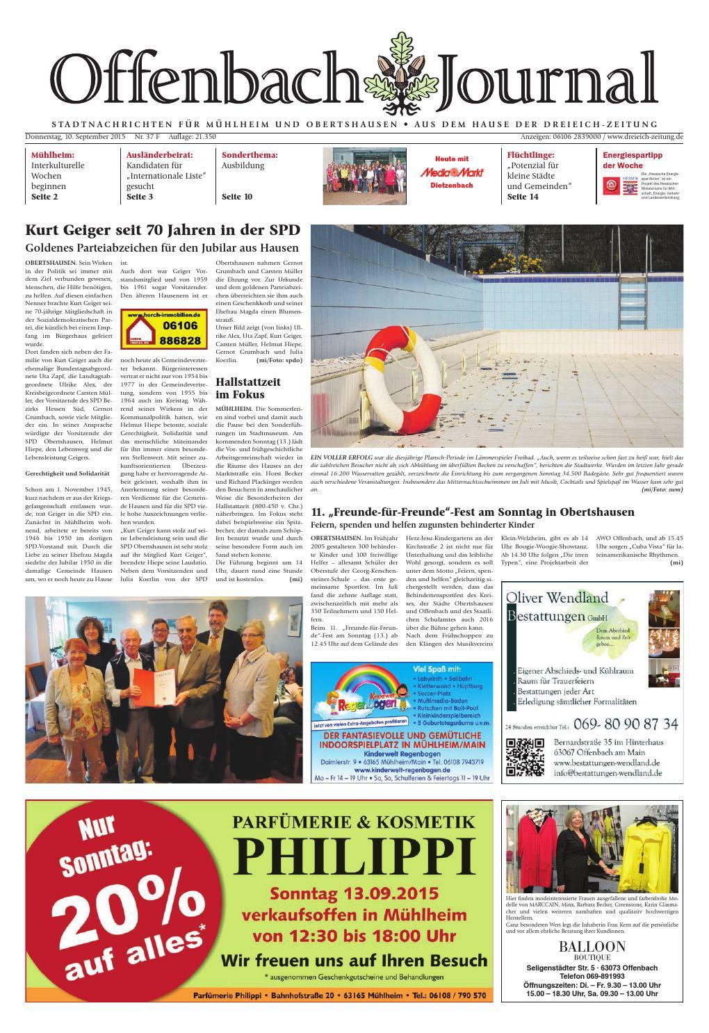 Dz Online 037 15 F By Dreieich Zeitung/Offenbach Journal   Issuu