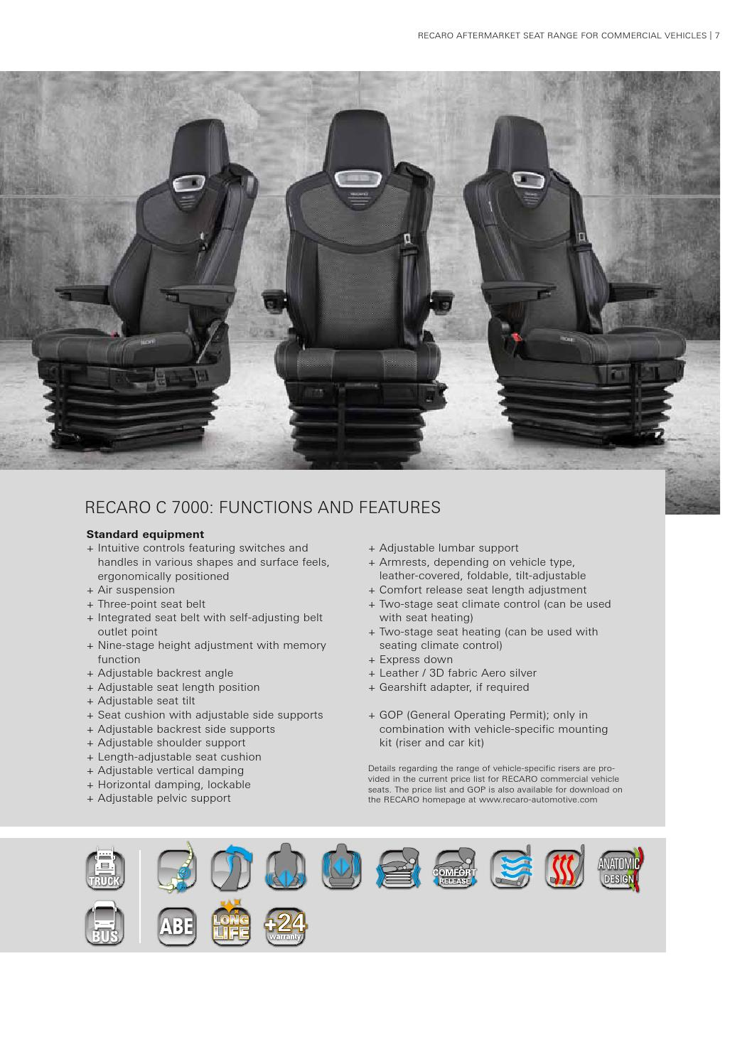 Fantastic Recaro Brochure Commercial Vehicle By Fmk Fact Issuu Ibusinesslaw Wood Chair Design Ideas Ibusinesslaworg