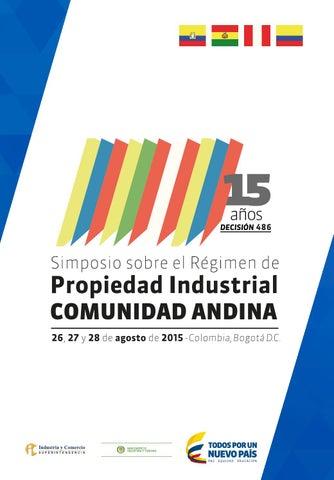 Simposio sobre Régimen de Propiedad Industrial Comunidad Andina by ... 97f4ef8a5a566