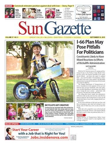 Sun Gazette Fairfax September 10, 2015 by Northern Virginia